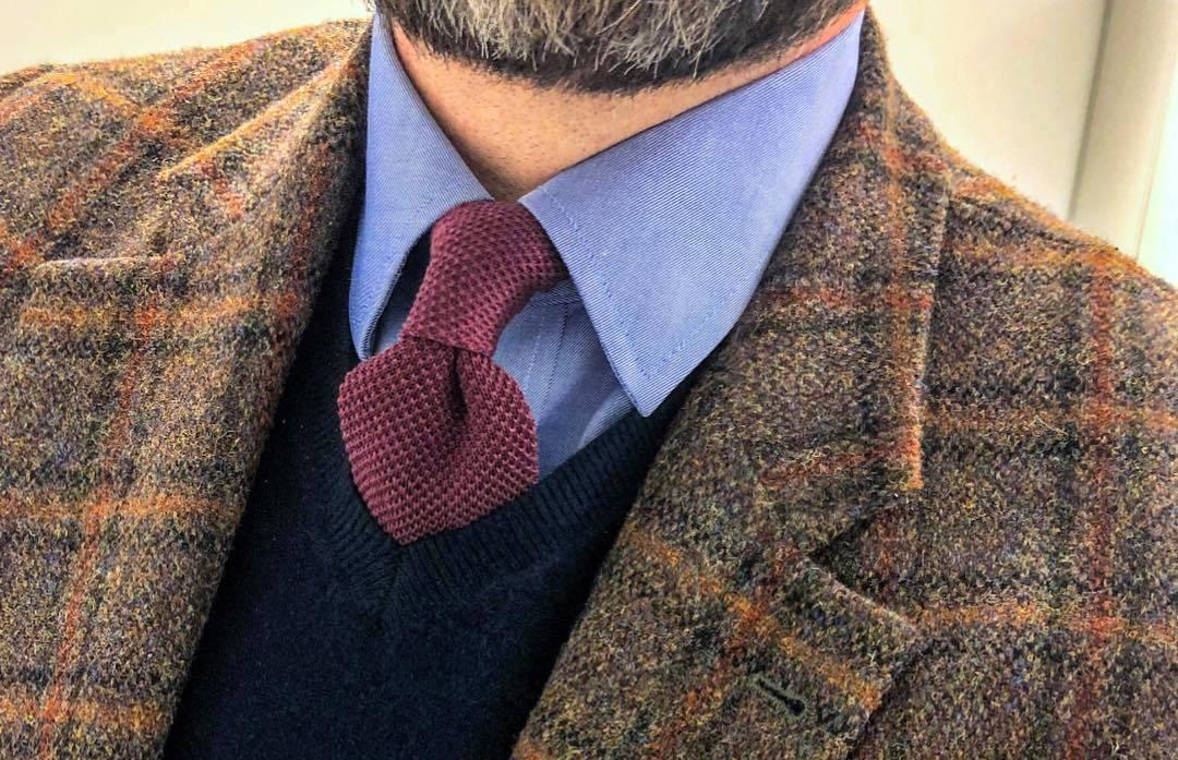 Лучшие вязаные галстуки сезона осень-зима